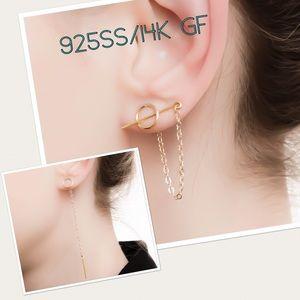 3PC - Edgy Circle, Chain, & Bar Earrings